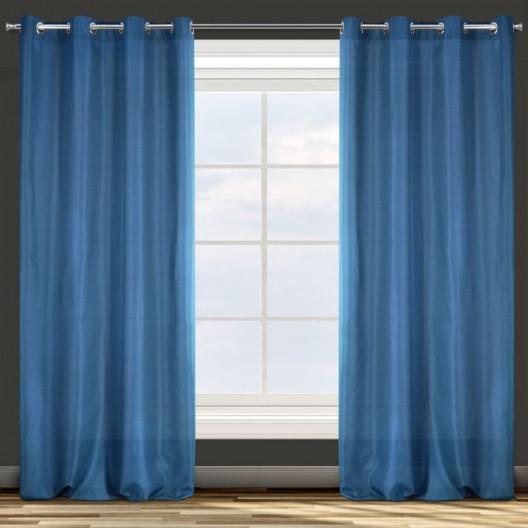 Hotový záves v modrej farbe do spálne