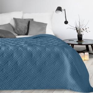 Moderný prehoz modrej farby so vzorom