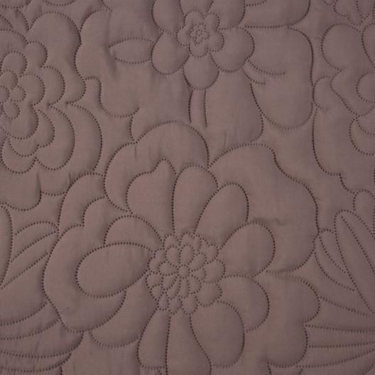 Matný ružový prehoz s potlačou kvetov