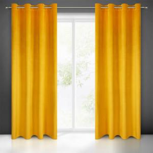 Zatemňovací záves do spálne v žltej farbe