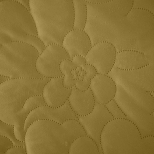 Žltý prehoz s potlačou kvetov