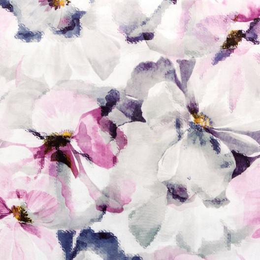 Kvalitný záves s potlačou kvetov