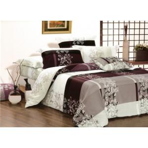 Luxusné obostranné bavlnené posteĺné obliečky fialovej farby
