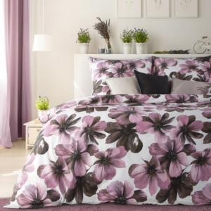 Krásne obojstranné posteľné obliečky s motívom kvetov