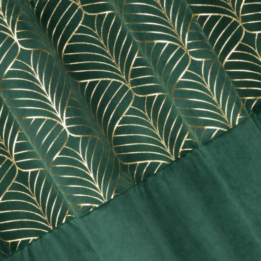 Moderné zamatové závesy v zelenej farbe