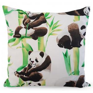 Obliečka na vankúš s potlačou pandy