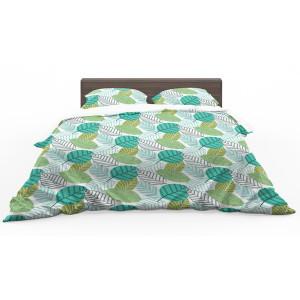 Kvalitné obojstranné posteľné obliečky s motívom zelených listov