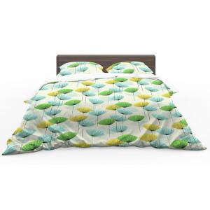 Moderné obojstranné zelené posteľné obliečky s motívom púpavy