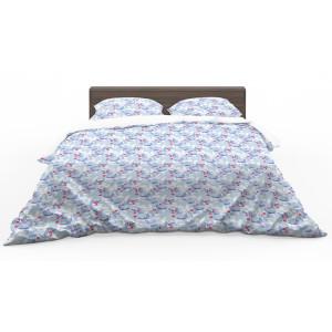 Obojstranné bielo modré posteľné obliečky