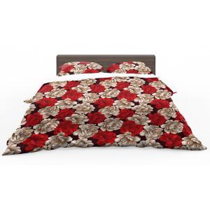 Krásne obojstranné posteľné obliečky s motívom ruží