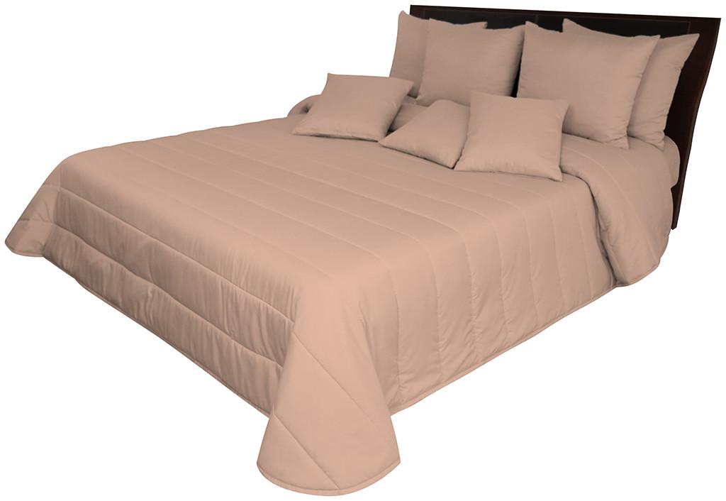 DomTextilu Kvalitný jednofarebný hnedo ružový prešívaný prehoz Šírka: 75 cm   Dĺžka: 160 cm 36134-172297