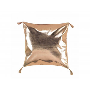 Bronzový glamour dekoračný vankúš so strapcami 40 x 40 cm