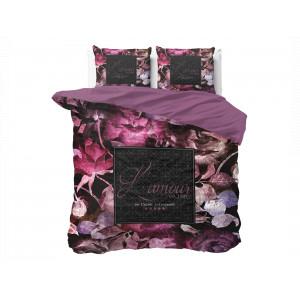 Fenomenálne obojstranné posteľné obliečky fialovej farby 180 x 200 cm