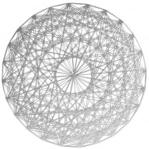 Strieborná designová okrúhla podložka do jedálne