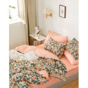 Krásne pestrofarebné posteľné obliečky z bavlny s motívom kvetov
