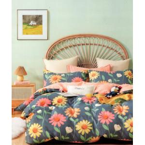 Moderné obojstranné posteľné obliečky s farebnými kvetmi