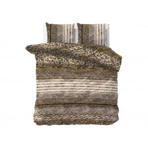 Luxusné hnedé posteľné obliečky so zvieracím motívom z kolekcie PANTHER 200 x 220 cm