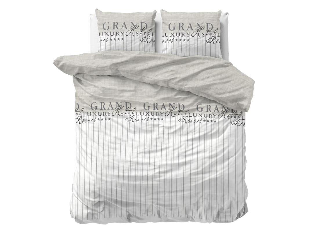 DomTextilu Elegantné posteľné sivé obliečky LUXURY RESORT 200 x 220 cm 36985