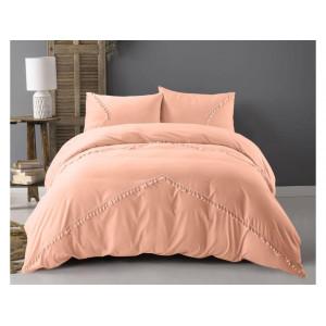 elegantné posteľné obliečky marhuľovej farby  z kolekcie FASION 200 x 220 cm