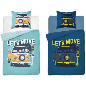 Detske svietiace posteľné obliečky s motívom autobusu