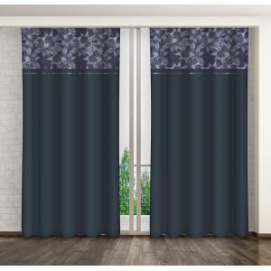 Moderný záves v tmavo sivej farbe do spálne