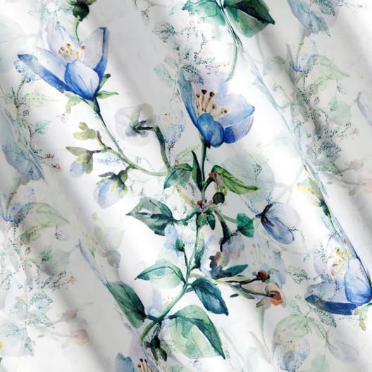 Hotový závesy v bielo krémovej farbe s motívom kvetov