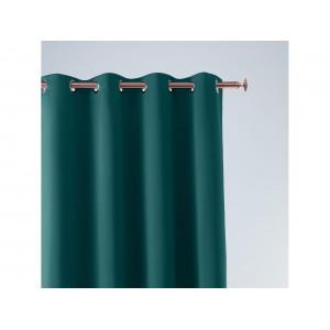Tmavo zelený záves so zavesením na kruhy 140 x 250 cm