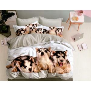 Krásne obojstranné posteľné obliečky s motívom HUSKY