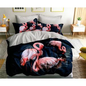 Exotické posteľné obliečky s motívom plameniakov