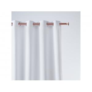 Krásny biely jednofarebný záves so zavesením na kruhy 140 x 260 cm