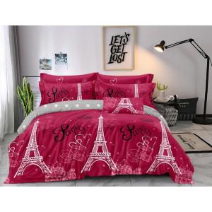 Ružové posteľné obliečky s motívom Paris