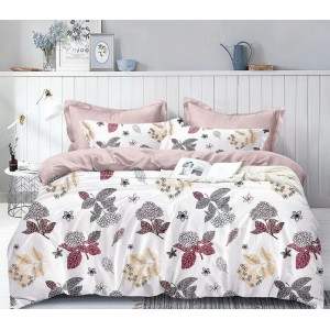 Biele posteľné obliečky s motívom hortenzií