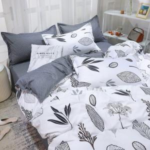 Biele posteľné obliečky s motívom kvetov