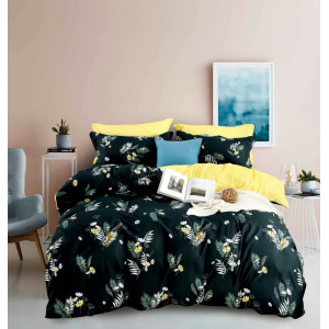 Posteľné obliečky žlto zelenej farby s kvetmi
