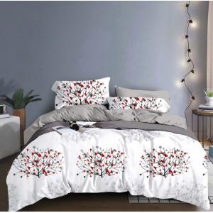 Biele posteľné obliečky s motívom rastlín