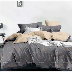 Sivé posteľné obliečky s geometrickým motívom