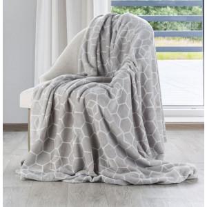 Krásna sivá moderná deka do spálne