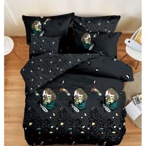 Tmavošedé posteľné obliečky s motívom motýľa