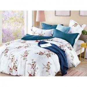 Biele posteľné obliečky s motívom ruží