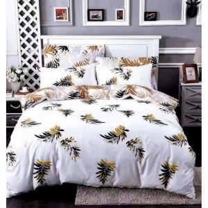 Biele posteľné obliečky s motívom listov