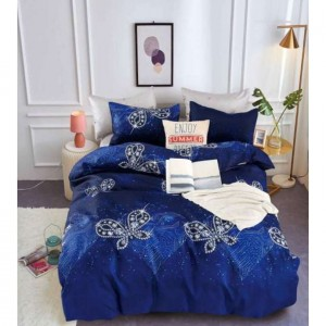 Kráľovský modré posteľné obliečky s motívom motýľom