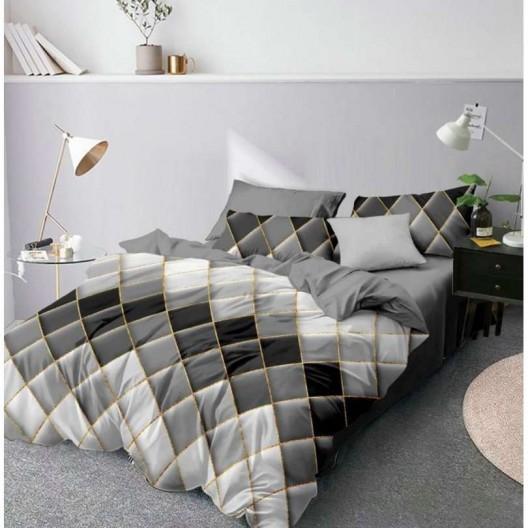 Šedé posteľné obliešky s ombré efektom