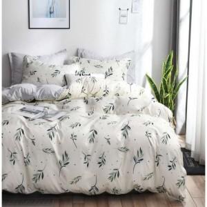 Krémové posteľné obliečky s motívom listov