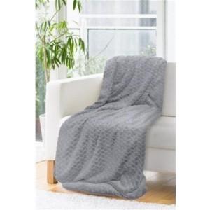 Tmavo sivá hrubá a makká deka 150 x 200 cm