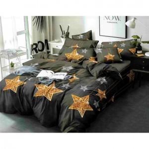 Šedé posteľné obliečky s motívom hviezd