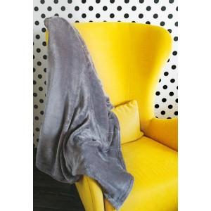 Kvalitná a mäkká jednofarebná sivá deka