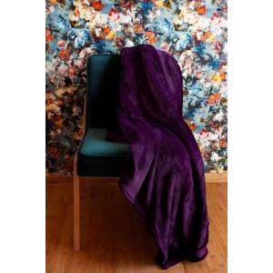 Luxusná jednofarebná fialová teplá deka