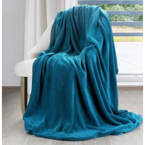 Krásna univerzálna deka výraznej tyrkysovej  farby