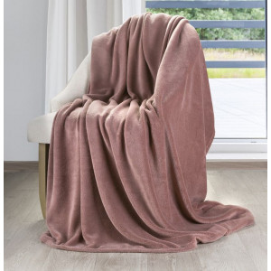 Krásna univerzálna deka starorúžovej farby