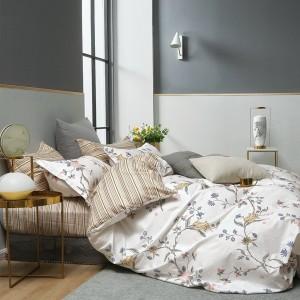 Moderné bielo hnedé obojstranné posteľné obliečky zo 100% bavlny